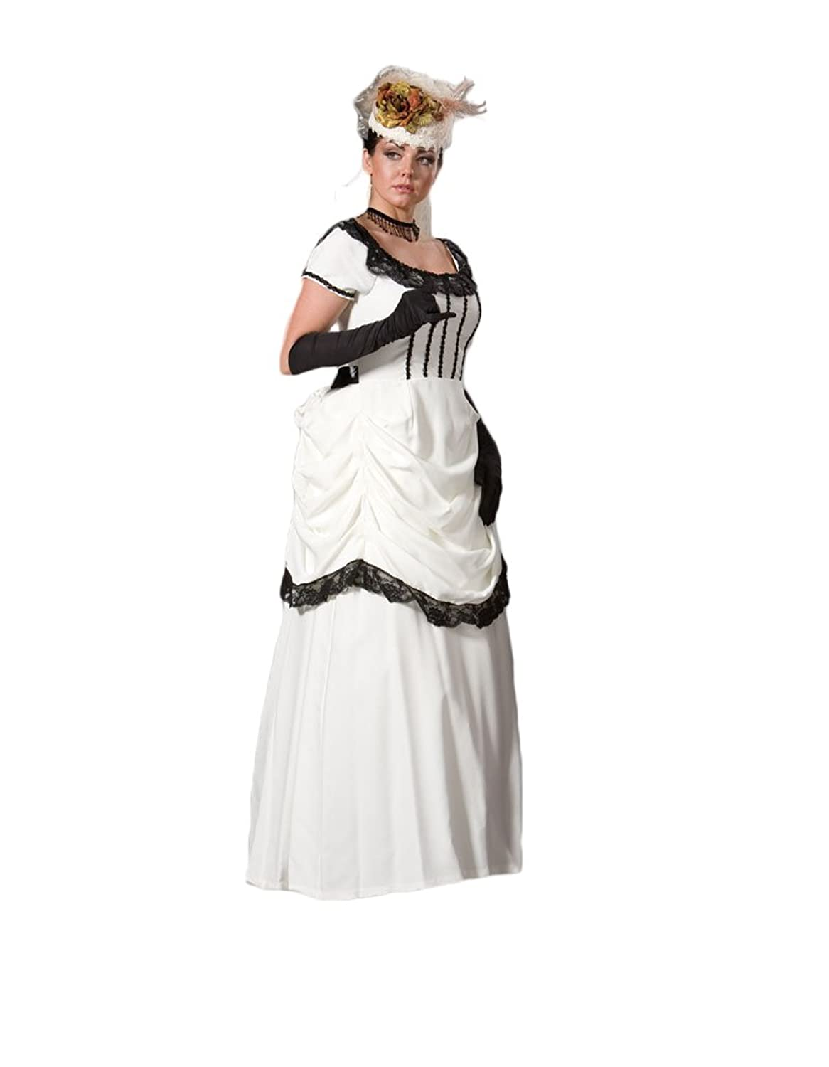 Vintage Style Wedding Dresses, Vintage Inspired Wedding Gowns Womens White Victorian Emma Dress Theater Costume $239.99 AT vintagedancer.com