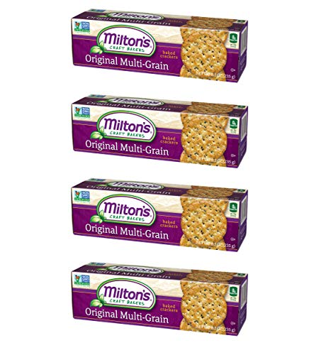 Milton's Gourmet Crackers (Multi-Grain). Multi Pack of Multi-Grain Non-GMO Baked Crackers (Pack of 4, 8.3 oz ()