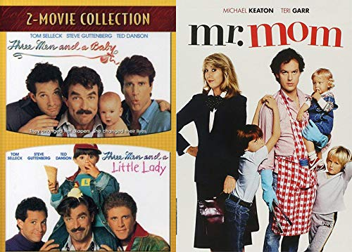 Talk About Role Reversal 80's Comedies! Three Men And A Baby/ Three Men And A Little Lady + Mr. Mom (Movie Comic Father Hijinks Bundle Triple Feature)