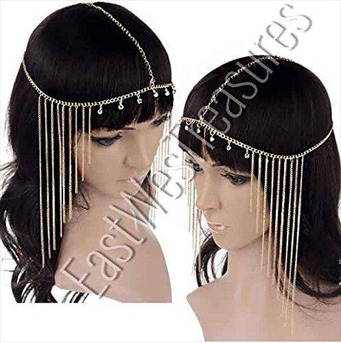 (EWT Egyptian Queen Princess Mummy Head hair chain headdress)