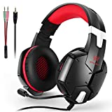 KOTION EACH Gaming Headset for Computer, PS4 & New Xbox one - PC Surround Sound Adjustable Gamer Headphones with Mic - 3.5MM Jack - Noise Isolating Game Earphones