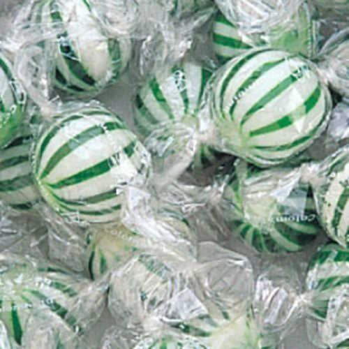 (Jumbo Green & White Spearmint Hard Candy Balls 120 Count Bag by The Nutty Fruit House)