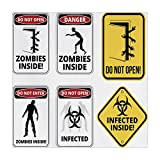 iPrint Polyester Square Tablecloth,Zombie Decor,Warning Signs for Evil Creatures Paranormal Construction Do Not Open Artwork,Multicolor,Dining Room Kitchen Picnic Table Cloth Cover,for Outdoor Indoor