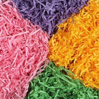Paper Easter Grass 4 Bags (1.75 Oz Each)- 1 of Each Color: Purple, Green, Pink & Yellow
