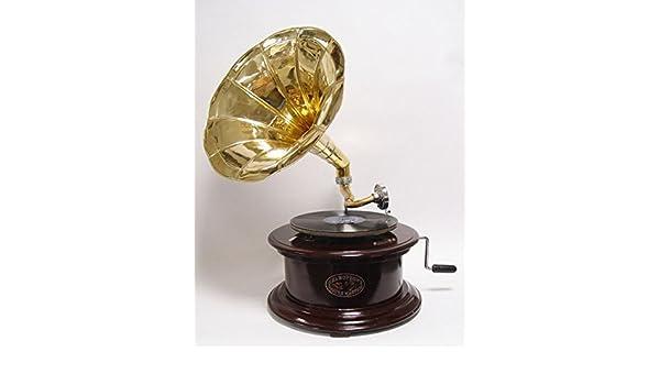 Ellas-Wohnwelt - Tocadiscos (gramófono, Amplificador Dorado ...