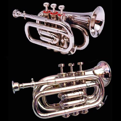 Student Edition Bb Pocket Cornet / Trumpet. Excellent Instrument to Start Learning Brass.