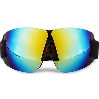 Skibrille Frameless Abnehmbare Wide Spherical Goggle Objektiv Skate Snowboard Snowmobile Goggle mit verspiegelten Objektiv für Männer Frauen Anti-Fog UV-Schutz (Color : Red) Z37Fmoh