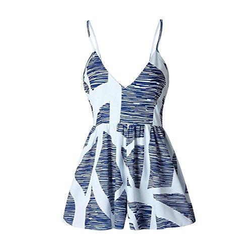 AUUOCC jumpsuits Playsuits Sling Wide Legs Female Bodysuits Boho Beach 0334 S by AUUOCC jumpsuits