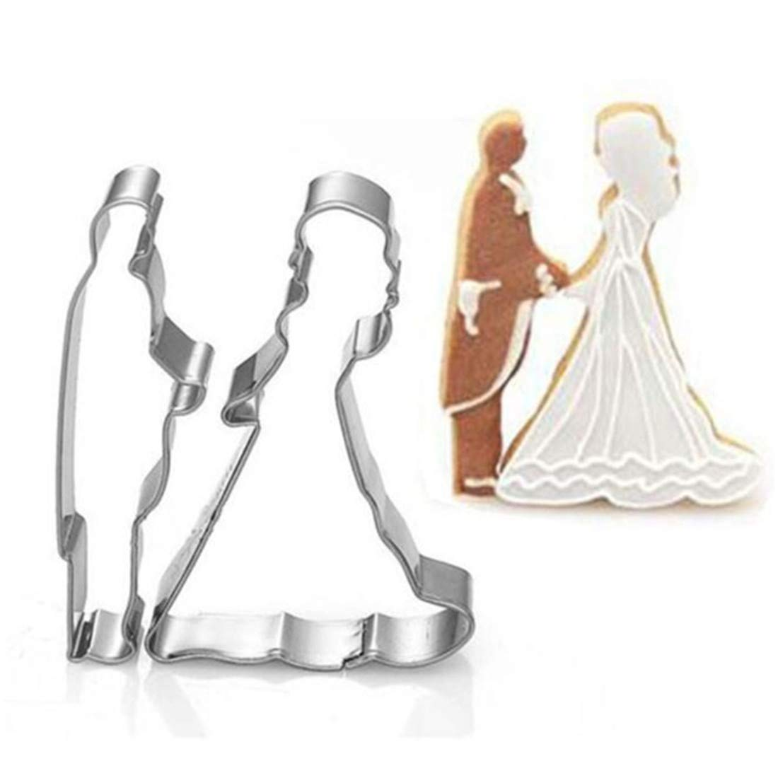 VWH Wedding Cookie Cutters Groom and Bride