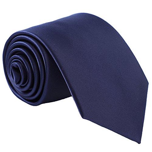 - Fortunatever Classical Men's Handmade Tie,Solid Necktie With Gift Box (Denim)