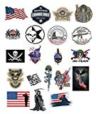 20 Pcs 2019 Military Stickers for Army, Hardhat sticker, Tool Box, Helmet, Toolbox, Car Bumper and 100% PVC Decals Waterproof For Construction, Electrician, American Flag | Military Assort|