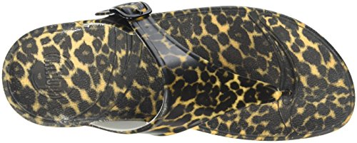 Fitflop brown Superjelly Para Marrón Mujer Tm Chancletas Print qZrwnvq0A