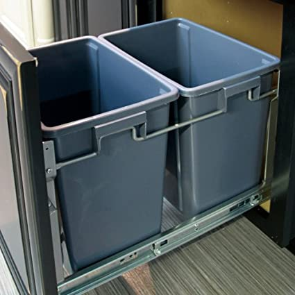 Dowell 4002 0218 Double Waste Basket Pullout For B18 Cabinet