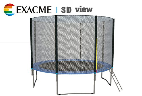 ExacMe-12-14-15-Trampoline-Heavy-Duty-Frame-wSafety-Pad-Enclosure-Net-Ladder-S12-S15