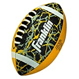 Franklin Sports Mini Football - Tacky Grip Cover - Easy Throw Spiral Lace System - Little Kids Indoor/Outdoor Football - Yellow/Black