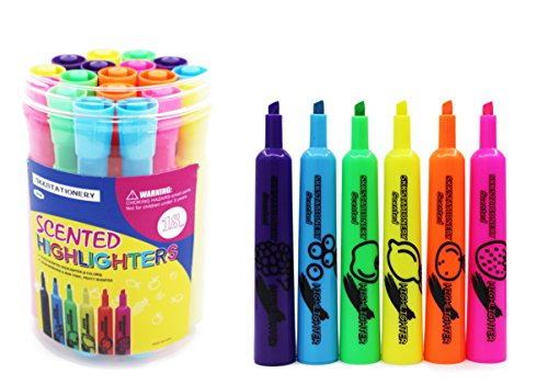 SKKSTATIONERY 18 Pcs Scented Highlighter Markers, Fruit Scented Highlighter Pens, Highlighter Markers, Highlighter Pens, Highlighters