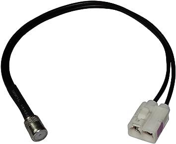 AERZETIX: Conector Cable Adaptador Enchufe Antena autoradio Doble FAKRA Hembra Blanco ISO para Coche vehiculos C11994
