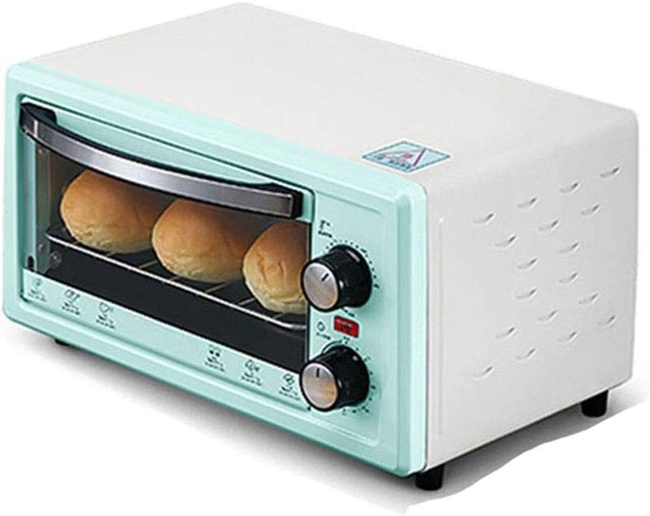 ZOUQILAI Mini trumpet Toaster, Countertop Electric Oven,12L,Turkish scones,Multiple functions, adjustable temperature Stainless Steel Timer 800W