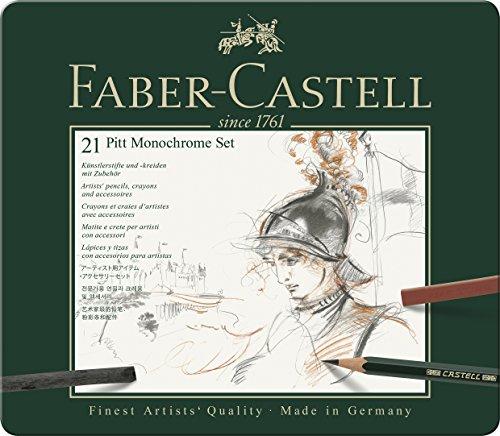 Pitt Monochrome Set (Faber-Castel 21 Piece PITT Monochrome Tin Set)