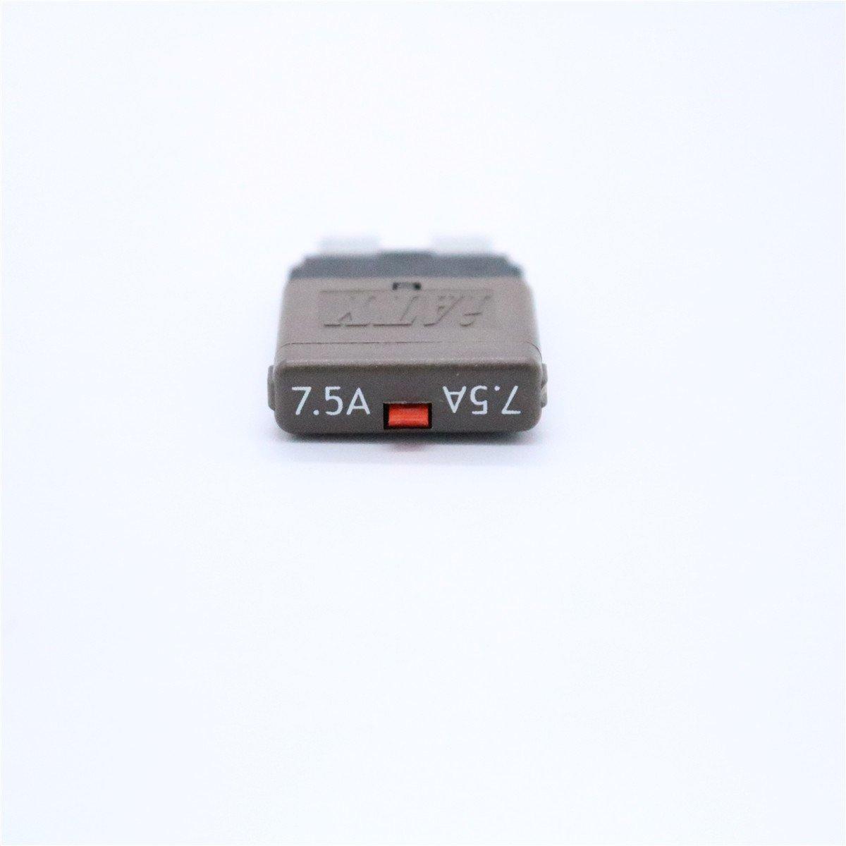 WINOMO 7.5AMP Reset Blade Fuse 28VDC Circuit Breaker Trip Fuses for Rv Truck