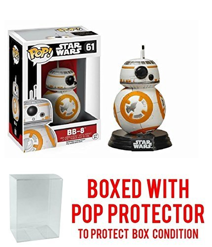 Star Wars The Force Awakens BB-8 Pop Vinyl Figure Bundled with Free Pop BOX PROTECTOR CASE