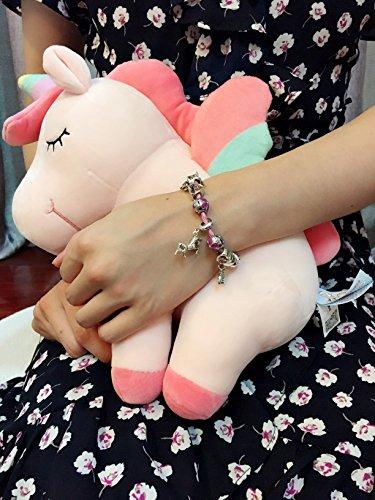 Pink Unicorn Birthday Charm Bracelet Jewelry Gifts for Girls (6.5) by Doctor Unicorn (Image #4)