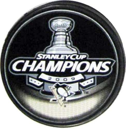 NHL Hockey Inglasco Pittsburgh Penguins 2009 Stanley Cup Champions Puck - Pittsburgh Hockey