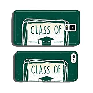 class of 2015 with graduate cap with tassel in frame over green cell phone cover case iPhone5