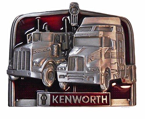 Kenworth Trucks Pewter Finish Logo Metal Enamel Belt Buckle