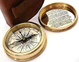 Click to open expanded view Robert Frost Poem Compass-Pocket Compass w Leather Case