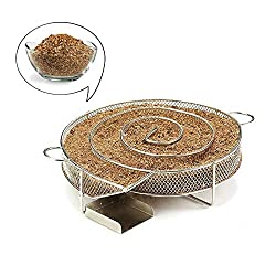 Best Quality Other Bbq Tools Stainless Steel Bbq Grill Accessories Round Smoker Apple Small Wood Chips Cold Smoke Generator Grill Bacon Meat Fish By Seedworld 1 Pcs