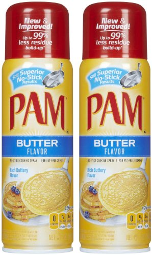 Pam Butter Flavor Cooking Spray - 5 oz - 2 pk