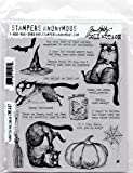 Snarky Cat Halloween - Tim Holtz Cling Mount Stamps - CMS407
