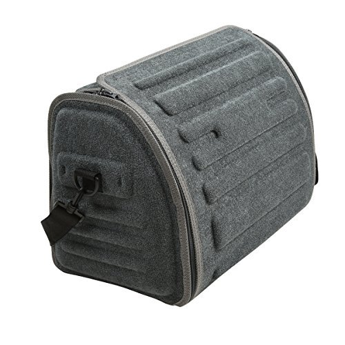 CAR PASS Universal Waterproof Durable Collapsible Cargo Storage,Foldable Car Trunk Organizers,Great for Car,SUV,Truck,Jeep,Minivan,Home (Dark Gray)