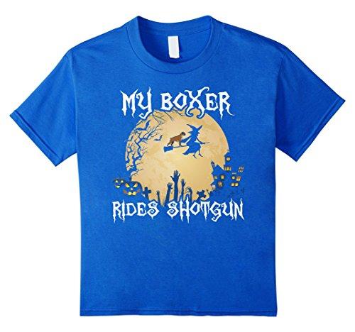 Halloween Costumes Boxer Dog Shirt - My Boxer Rides Shotgun