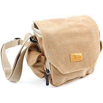 60727e3f095a Amazon.com : DURAGADGET Light Brown Canvas Camera Bag for New Canon ...