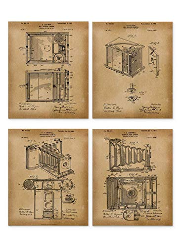 - Film Camera Patent Print - Set of 4 Vintage 8x10 Unframed - Gifts Under 15 Dollars - Great Gift for Photographers