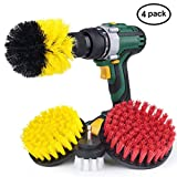 Idefair(TM) Set of 4 Drill Brushes Attachment Kit,Professional Turbo Spin Power Scrubber for Tub,Shower,Corners,Grout,Bathroom Surface,Pool Tile,Floor,Brick,Marble,Ceramic,Furniture,Carpet,Car Wheel