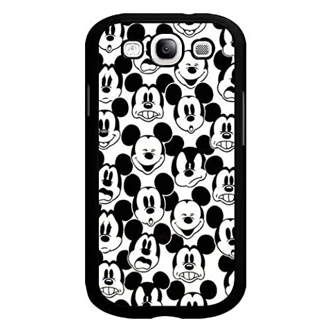 Mickey Mouse Samsung Galaxy S3 Case, Onelee [Never fade] Disney Mickey Mouse Samsung Galaxy S3 Black Plastic Case [Scratch proof] [Drop (S3 Cases Mickey Mouse)