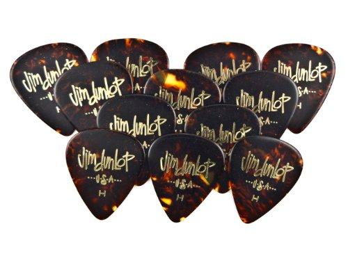 - Dunlop 483P05HV Classic Celluloid Shell Guitar Picks, Heavy, 12-Pack