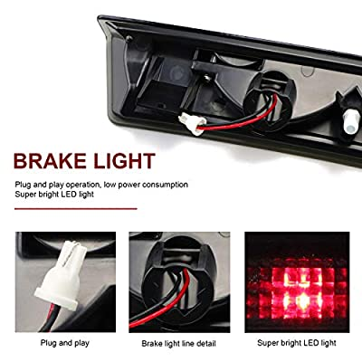 High Mount LED Third 3rd Brake Light Rear Roof Center Mount Brake Tail Stop Light For 1999 2000 2001 2002 2003 2004 1999-2004 Ford Mustang: Automotive