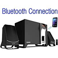 Boytone BT-3107F, Wireless Bluetooth 2.1 Multimedia Powerful Bass System with FM Radio, Remote Control Aux Port, USB/SD/MMC Audio for Phones , Tablets , Desktop Computers , Laptops