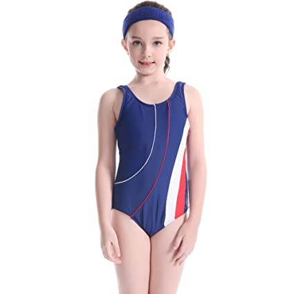 beddcaf435 Amazon.com   Wingbind Cute One-Piece Swimsuit for Girls