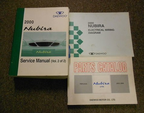 2000 daewoo leganza service repair shop manual set factory oem book 00  daewoo paperback – 2000