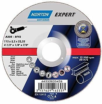 NORTON abrasivos 66252835426 corte disco de corte acero INOX ...