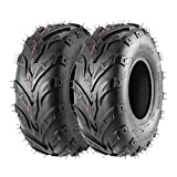 Pack of 2 145 70-6 Tires, 145/70-6 Tubeless Go Kart Street Mini Bike Tires