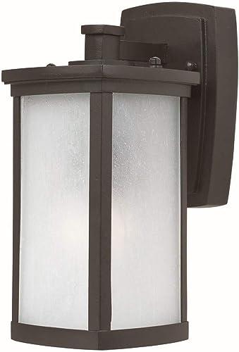 Maxim 3252FSBZ Terrace Frosted Seedy Glass Outdoor Wall Sconce, 1-Light 60 Watt, 11 H x 5 W, Bronze