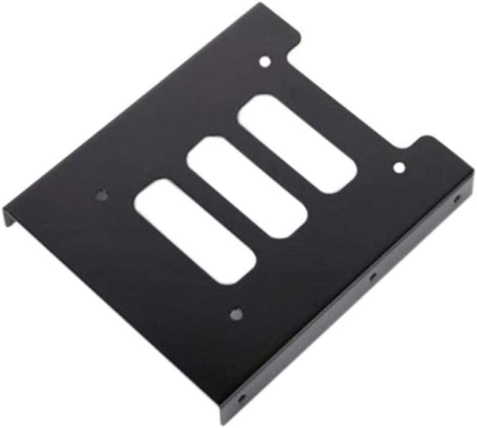 Black 2.5 SSD to 3.5 Bay Hard Drive HDD Mounting Dock Tray Bracket Adapter