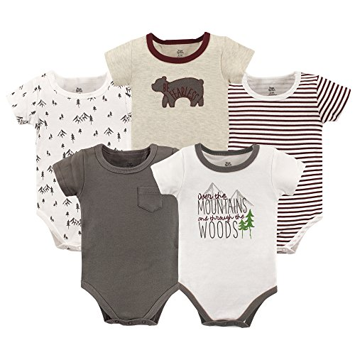 Yoga Sprout Unisex Baby Cotton Bodysuits, Mountains Short-Sleeve, 0-3 Months from Yoga Sprout
