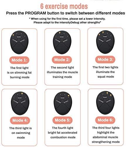 Abs Stimulator - Automatic Fitness System - Portable Fitness Workout Equipment - Home Office Exercise for Men Women with 12 Extra Gel Pads 4